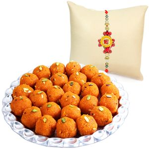 Rakhis & Gifts (Abroad) - Laddoos and Rakhi for Dear Brother in UK