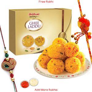 Rakhi Mithais (India) - Haldiram's Pure Tasty Ghee Ladoo N Rakhi