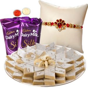 Rakhi Gift Hampers (for Brothers in India) - Rakhi Gifts - Chocolate Sweets N Rakhi
