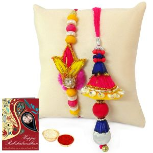 Fancy Rakhi Lumba Set For Bhai Bhabhi