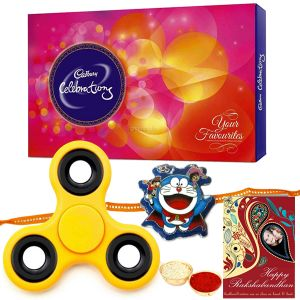 Ben 10 Rakhi, Cadbury Celebration Pack, Spinner