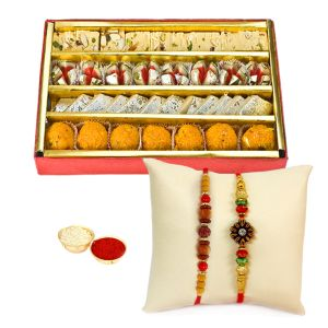 Rakhis & Gifts - Haldiram Tasty Assorted Sweets N Rakhi