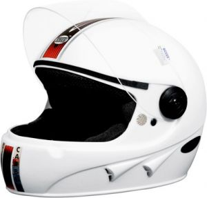 Stallion Full Face Isi Helmet (white)