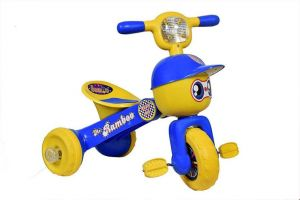 Bluday Ramboo Tricycle Blue For Kids 1 To 3 Years - Foldable Tricycle ( Color May Vary )