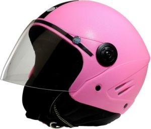 Stallion Open Face Isi Helmet (pink)