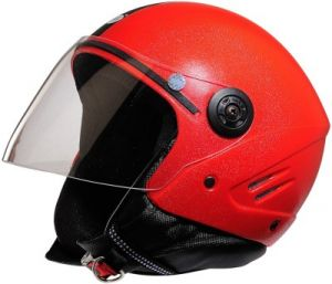Stallion Open Face Isi Helmet (red)