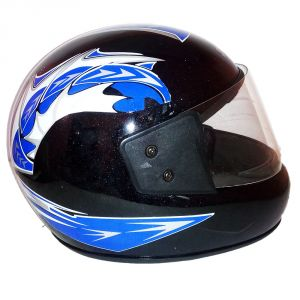 Bike Helmets - Pik-Up Full Face Blue Helmet