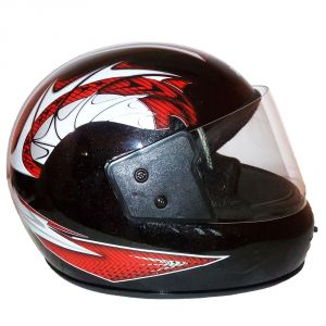 Bike Helmets - Pik-Up Full Face Red Helmet