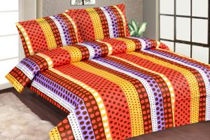 Furnishings - Royal Choice Multi colour Cotton Double Bedsheet Alongwith Two Pillow Covers