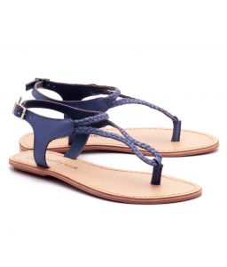 Naughty Walk Blue Genuine Leather Sandals 704