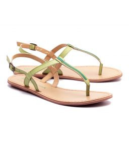 Naughty Walk Lime Green Strap Genuine Leather Sandals 705