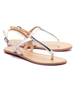 Naughty Walk White Strap Genuine Leather Sandals 705