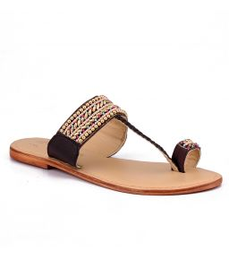 Naughty Walk Multi Color Genuine Leather Ethnic Sandals 710
