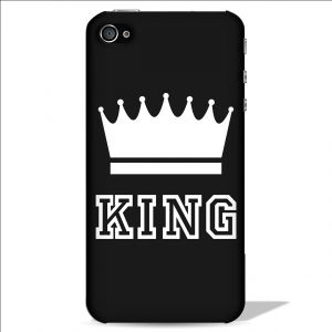 Carry cases and pouches for mobile - Leo Power King Crown Printed Case Cover For Apple iPhone 4