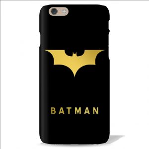 Leo Power Batman Logo Golden Printed Case Cover For Apple iPhone 6 Plus