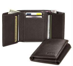 Belts ,Socks ,Wallets  - Tri Fold Leather Wallet