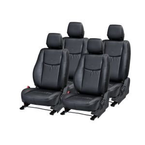 Pegasus Premium Fortuner Car Seat Cover - (code - Fortuner_black_wave)