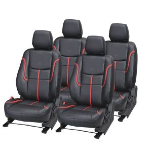 Pegasus Premium Elite I20 Car Seat Cover - (code - Elitei20_black_red_prime)