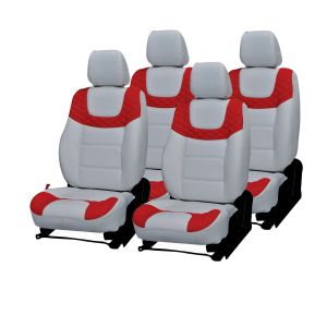 Pegasus Premium Liva Car Seat Cover - (code - Liva_white_red_choice)