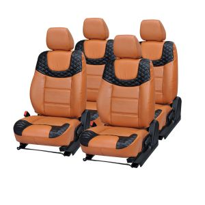 Pegasus Premium Micra Car Seat Cover - (code - Micra_orange_black_choice)