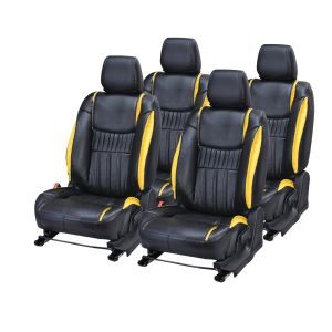 Pegasus Premium Fortuner Car Seat Cover - (code - Fortuner_black_yellow_suprime)