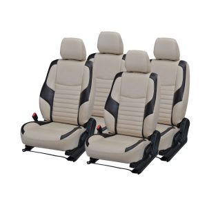 Pegasus Premium Pulse Car Seat Cover - (code - Pulse_beige_black_comfert)