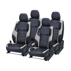 Pegasus Premium Fortuner Car Seat Cover - (code - Fortuner_black_grey_comfert)