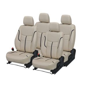 Seat covers for cars - Pegasus Premium Balero Car Seat Cover - (Code - BALERO_Beige_Black_prime)