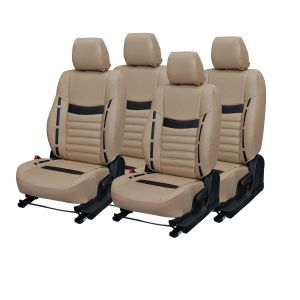 Pegasus Premium Fortuner Car Seat Cover - (code - Fortuner_beige_brown_style)