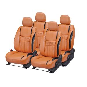 Pegasus Premium Manza Car Seat Cover - (code - Manza_orange_black_suprime)