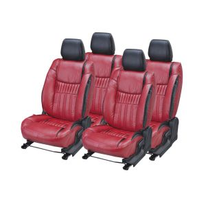 Seat covers for cars - Pegasus Premium Ertiga Car Seat Cover - (Code - ERTIGA_Maroon_Black_suprime)