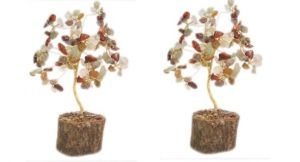 Gems Crystal Tree Good Luck Set Of 2 PCs