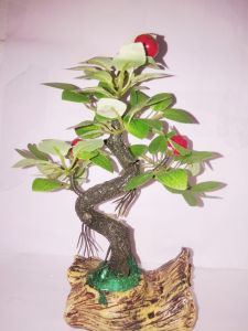 Artificial Bonsai Wild Plant With Marble Base (art0202)