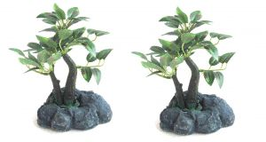 Artificial Bonsai Plant Set Of 2 PCs