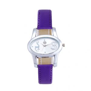 Shostopper Lavender Silver Dial Analogue Watch For Women (product Code - Sj62005ww)
