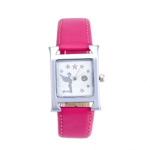 Shostopper Pink Lady White Dial Analogue Watch For Women (product Code - Sj62011ww)