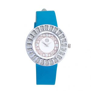 Shostopper Glittery White Dial Analogue Watch For Women (product Code - Sj62009ww)