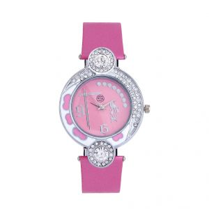 Shostopper Pretty Pink Dial Analogue Watch For Women (product Code - Sj62001ww)
