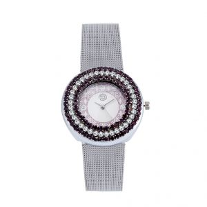 Shostopper Glamorous White Dial Analogue Watch For Women (product Code - Sj62006ww)