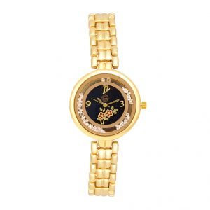 Shostopper Royal Queen Black Dial Analogue Watch For Women (product Code - Sj62035ww)