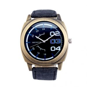 Shostopper Stylish Navy Blue Dial Analogue Watch For Men (product Code - Sj60023wm)