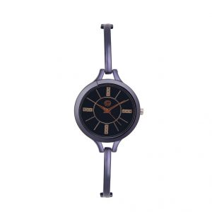 Shostopper Slim Black Dial Analogue Watch For Women (product Code - Sj62037ww)