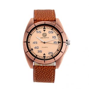 Shostopper Attractive Brown Dial Analogue Watch For Men (product Code - Sj60030wm)