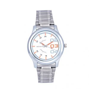 Shostopper White Dial Metallic Analogue Watch For Men (product Code - Sj60038wm)