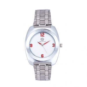 Shostopper Unique Metallic White Dial Analogue Watch For Men (product Code - Sj60040wm)