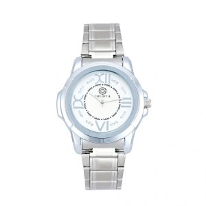 Shostopper Party Wear Metallic White Dial Analogue Watch For Men (product Code - Sj60036wm)