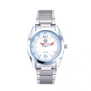 Shostopper Mirror Metallic White Dial Analogue Watch For Men (product Code - Sj60035wm)