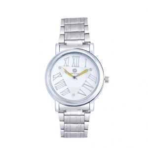 Shostopper Roman Metallic White Dial Analogue Watch For Men (product Code - Sj60045wm)