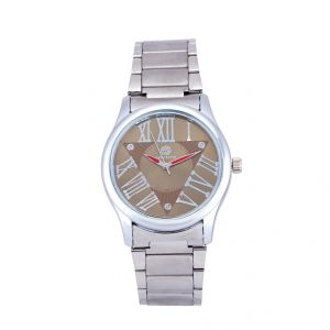 Shostopper Roman Metallic Brown Dial Analogue Watch For Men (product Code - Sj60042wm)
