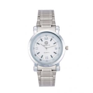 Shostopper Round Metallic White Dial Analogue Watch For Men (product Code - Sj60039wm)